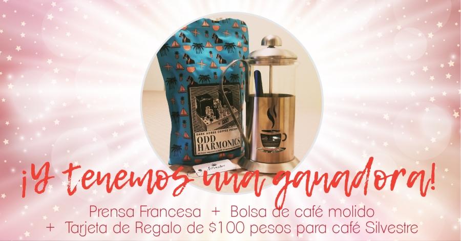 Ganadora del CoffeeGiveaway