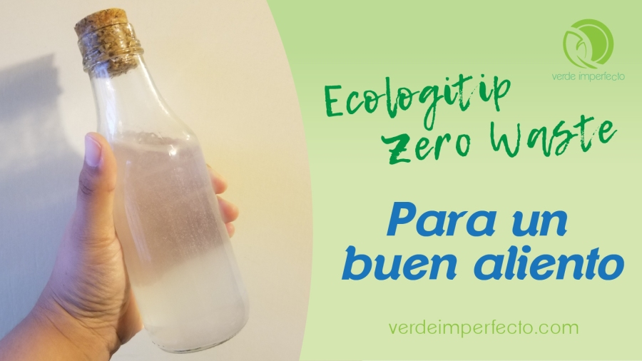 Prepara tu enjuague bucal zero waste